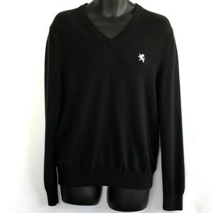 Express Men's Black Pullover V-Neck Sweater